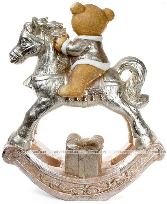 """Фигура декоративная """"Мишка на лошади"""" 55х25х68см, шампань"""