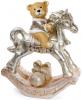 """Фігура декоративна """"Ведмедик на коні"""" 55х25х68см, шампань"""