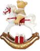 """Фігура декоративна """"Ведмедик на білому коні"""" 55х25х68см"""