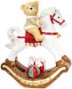 """Фигура декоративная """"Мишка на белой лошади"""" 55х25х68см"""
