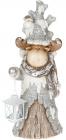 """Статуетка декоративна """"Лось з ліхтариком"""" 52.8см, кераміка"""