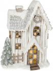 """Декор керамічний """"Зимовий будиночок"""" з LED-підсвіткою 44.8см"""