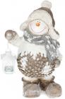 """Фігура керамічна """"Сніговик з ліхтариком"""" 43.5см"""