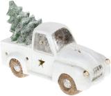 """Декоративный """"Белый автомобиль с елью"""" 40.3см с LED-подсветкой"""
