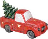"""Декоративний """"Червоний автомобіль з ялиною"""" 40.3см з LED-підсвіткою"""