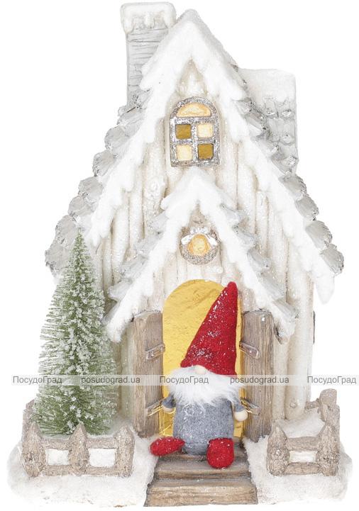 """Новогодний декор """"Домик с Сантой"""" 47см с LED-подсветкой"""