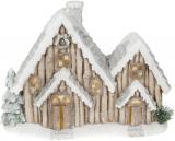 """Новорічний декор """"Будиночок в снігу"""" 49см з LED-підсвіткою"""