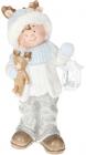 """Фигура керамическая """"Малыш в голубой шапке с оленем"""" 51.5см"""