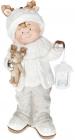 """Фігура керамічна """"Малюк в білій шапці з оленем"""" 51.5см"""