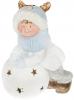 """Фигура керамическая """"Малыш в шапке-олене на снежке"""" 43.5см с LED-подсветкой"""