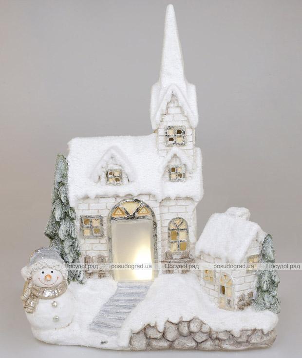 """Декор керамічний """"Старий замок"""" з LED-підсвіткою 43х20х54.5см"""