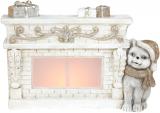 Декоративная фигура «Пёсик у камина» с LED-подсветкой 42.5х14х28.5см