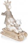 Фигура декоративная «Жираф на санках» 30.5х19х45.5см шампань, керамика