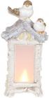 Декоративна композиція «Пташиний будиночок» з LED-підсвіткою 21х14.5х44см, шампань
