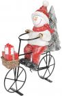 Декоративна статуетка «Сніговик на велосипеді» 23х9х26.5см, кераміка