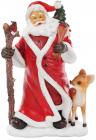 """Статуетка декоративна """"Санта і оленятко"""" 33см"""