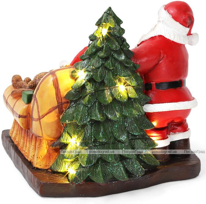 "Статуэтка декоративная ""Санта и малыш"" 19см с LED-подсветкой"