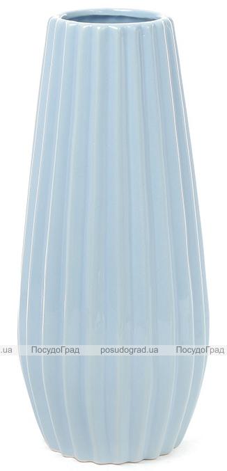 Керамическая ваза Stone Flower 26см голубая