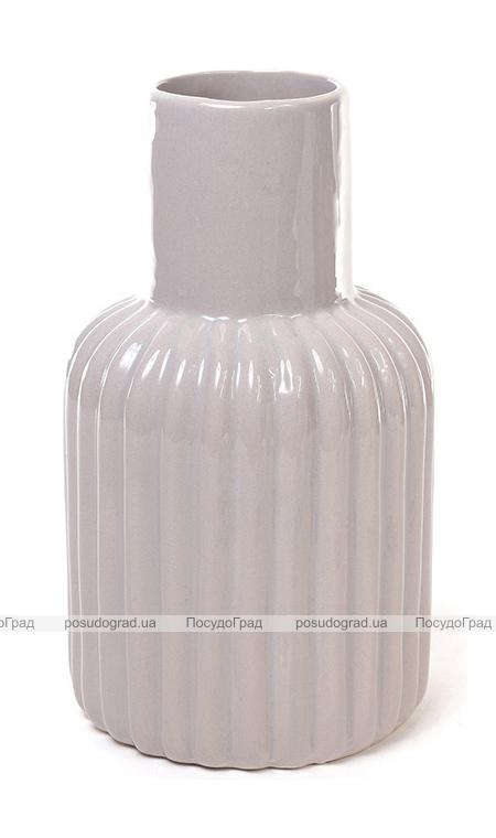 Керамическая ваза Stone Flower 19см серая