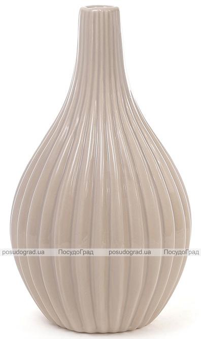 Керамическая ваза Stone Flower 25см кофе с молоком