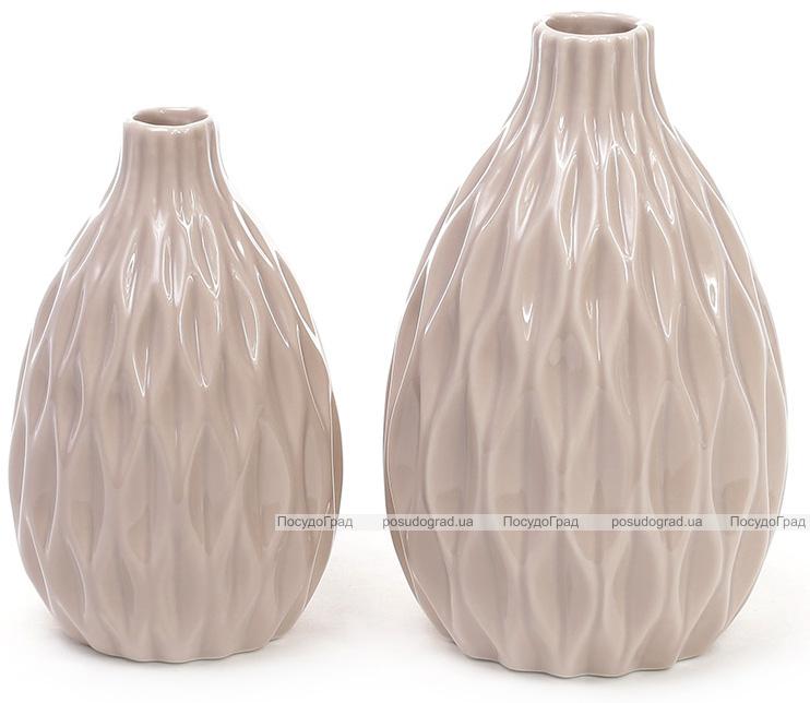 Керамическая ваза Stone Flower 15.4см бежевая
