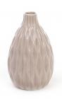 Керамическая ваза Stone Flower 13.8см бежевая