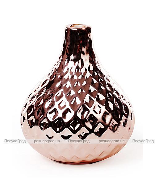 Керамическая ваза Stone Flower 12см медного цвета