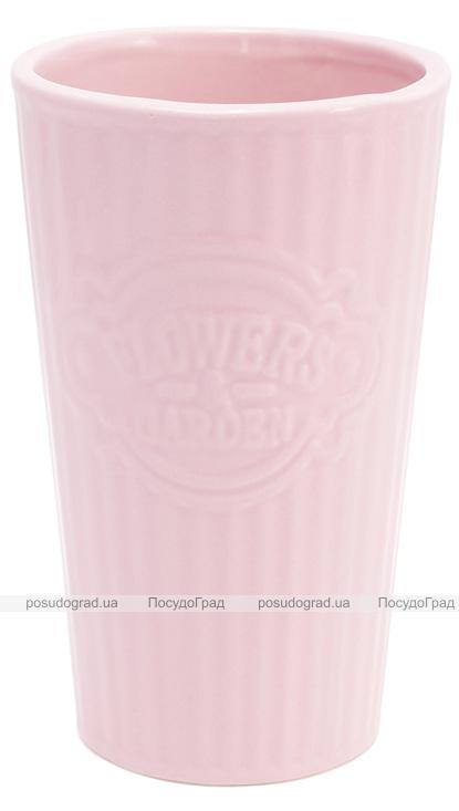 Ваза для цветов Flowers Garden керамическая 20.5см, розовая