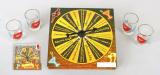 """Гра настільна """"Рулетка питійна"""" картон 15х15х4см (в наборі 4 стопки)"""