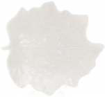 """Блюдо фарфоровое """"Белый лист"""" 19.8х18.1см"""