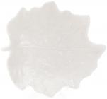 """Блюдо фарфорове """"Білий лист"""" 19.8х18.1см"""