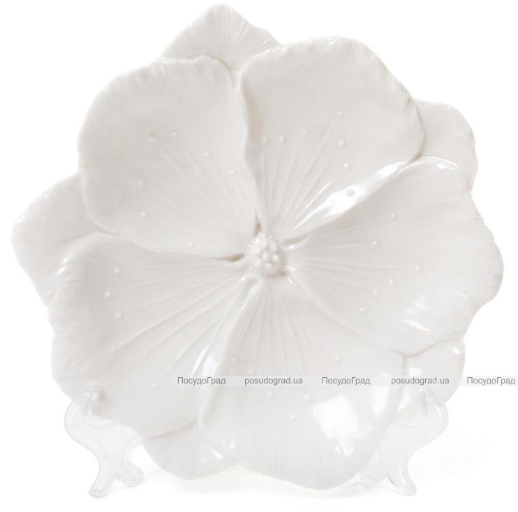 """Набор 3 декоративных блюда """"Белый Цветок"""" 18.6х18х3см, фарфор"""