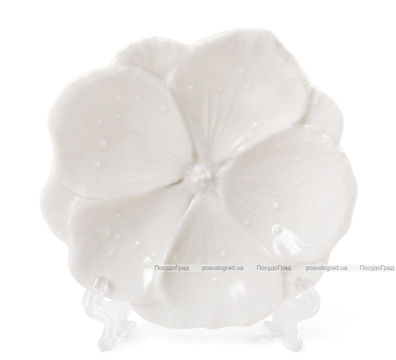 """Набір 4 декоративних блюда """"Біла Квітка"""" 11.2х11.2х2см, фарфор"""