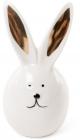"""Фігурка декоративна """"Кролик з золотими вушками"""" 6.8х6.4х15.3см, фарфор"""