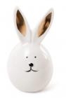"""Фігурка декоративна """"Кролик з золотими вушками"""" 5.4х5.4х9.1см, фарфор"""