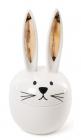 """Шкатулка декоративна """"Кролик з золотими вушками"""" 9.6х9.6х18.5см, фарфор"""