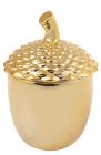 """Банка керамічна """"Золотий жолудь"""" 150мл, золота"""
