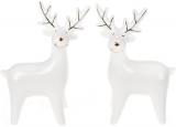 """Набір 2 декоративних фігурки """"Сніговий олень"""" 13.4см, кераміка"""