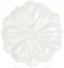 """Набор 3 декоративных тарелки """"Незабудка"""" 24см, керамика, белые"""