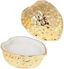 Декоративна свічка «Золотий горішок» з кришкою, 10.7х8.6х8.6см, фарфор