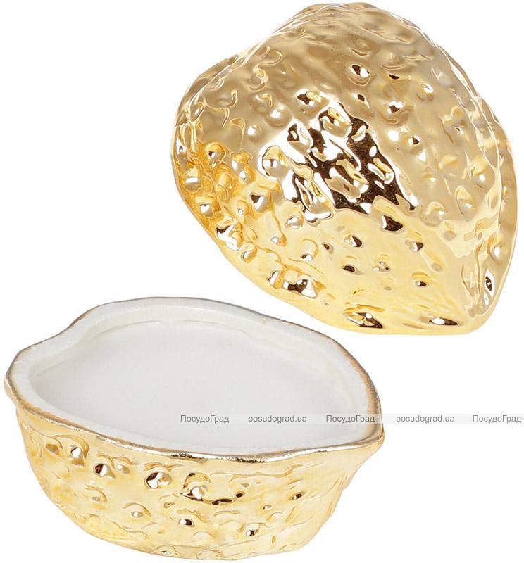 Декоративная свеча «Золотой орешек» с крышкой, 10.7х8.6х8.6см, фарфор