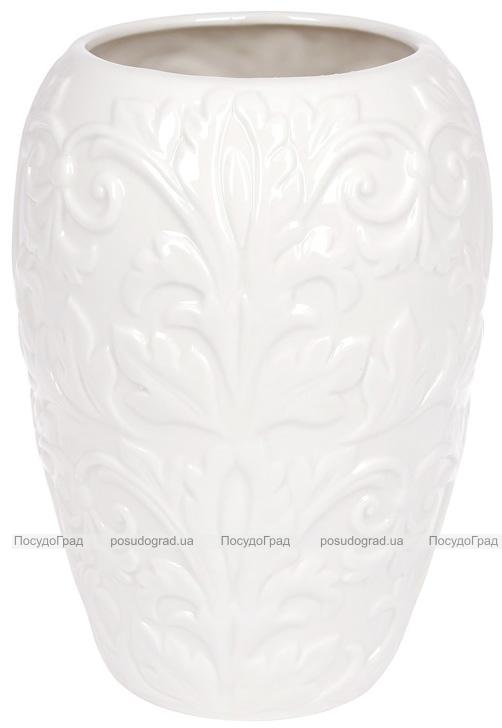 """Ваза фарфорова """"Флора"""" 22.6см, біла"""