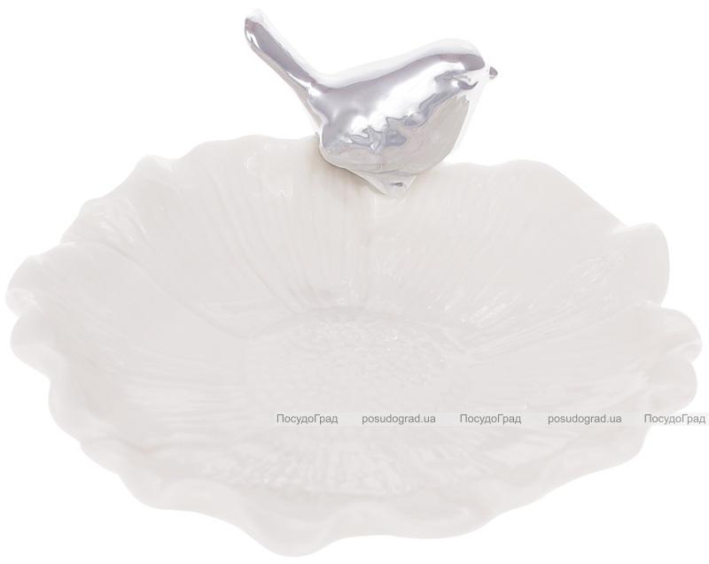 """Підставка для прикрас """"Срібна Пташка"""" 11.5х12.3х5см"""