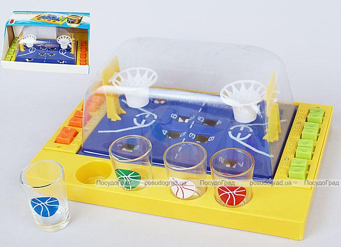 """Игра настольная """"Баскетбол механический"""" 29.7x19.7x11.5см (в наборе 4 стопки)"""