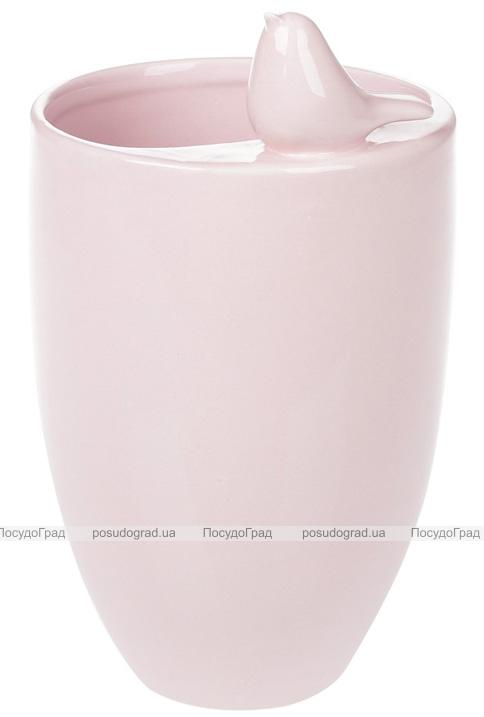 """Ваза керамическая """"Angeline"""" 18.5см, розовая"""