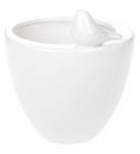 """Ваза-кашпо керамічна """"Angeline"""" 17.5см, біла"""