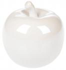 """Набір 4 декоративні статуетки """"Яблуко"""" 10.5см, білий перламутр"""
