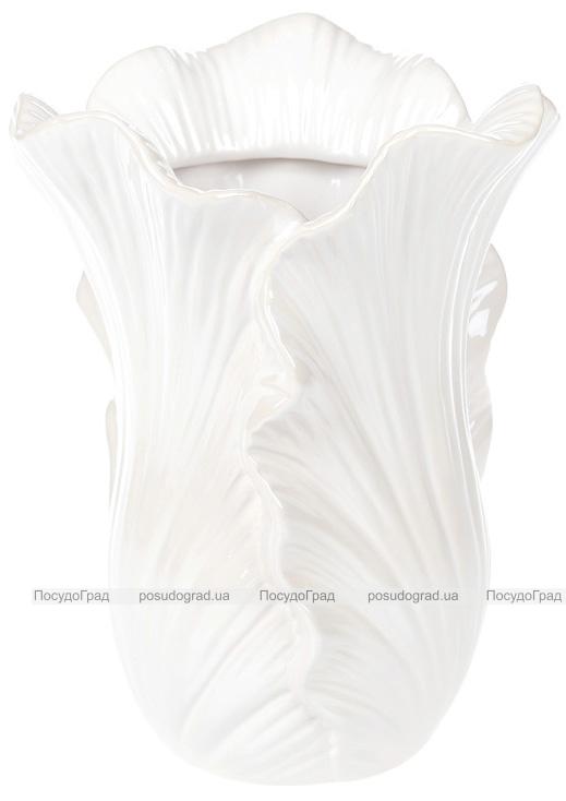 """Ваза керамическая """"Liann"""" 19.2см, белый перламутр"""
