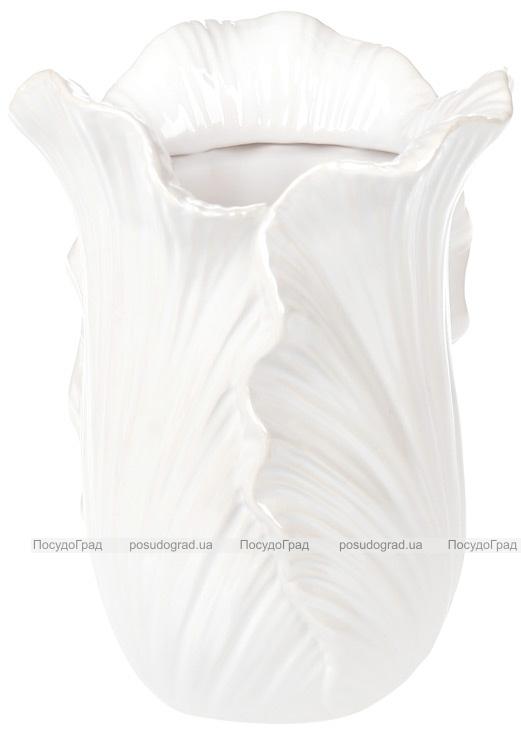 """Ваза керамічна """"Liann"""" 16.2см, білий перламутр"""