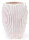 """Керамическая ваза Hydrangea """"Волна"""" Ø15x22см, слоновая кость"""